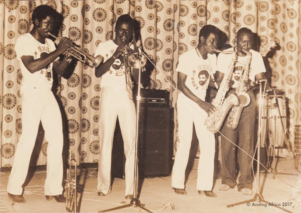 ORCHESTRE EKO Ekoulé, Dooh Émile,Féfé Priso, Fotso messack at Cinéma Le Wouri (Douala) 1978